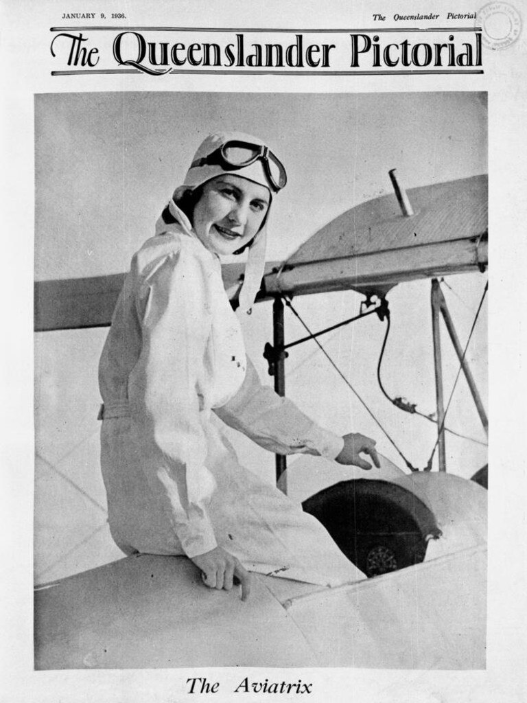 Aviator Ivy May Pearce on the front cover of The Queenslander Pictorial in 1936 (Credit: State Library of Queensland)