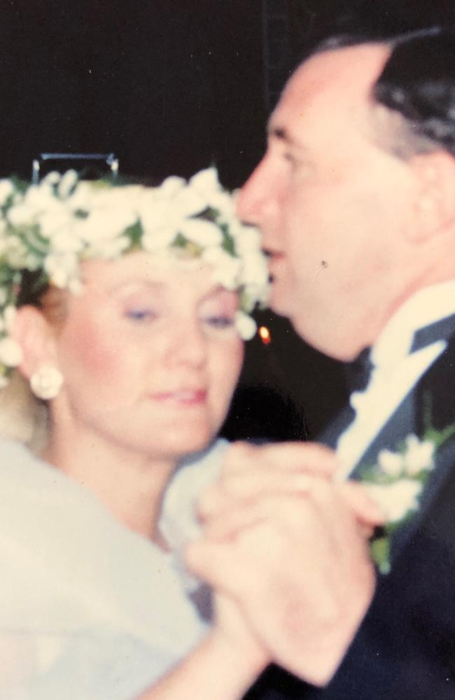 Brian Harrison and Therese Ryan on their wedding day. Picture: supplied
