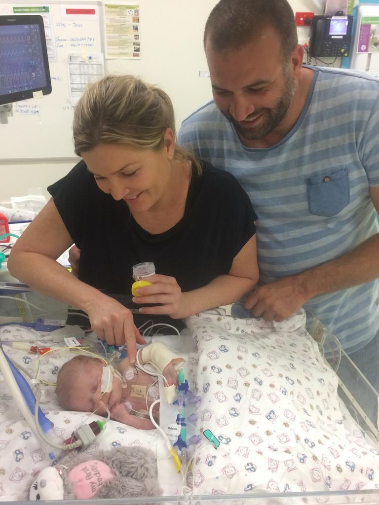 Zoe Cooper and Shane Gaudard's daughter Ella was born with the rare heart condition Ebstein's anomaly. She died from complications from the condition at just three months old.