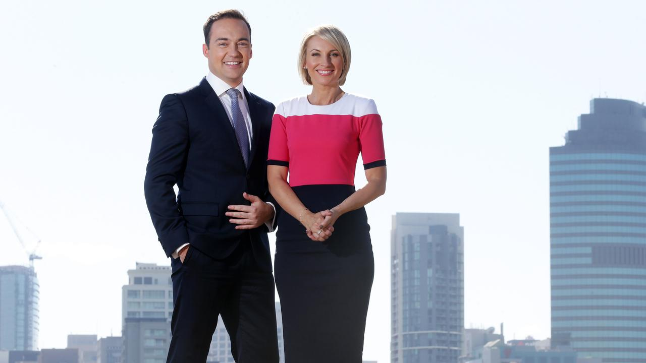 Georgina Lewis with her former Teh co-anchor Lachlan Kennedy. Picture: Liam Kidston.