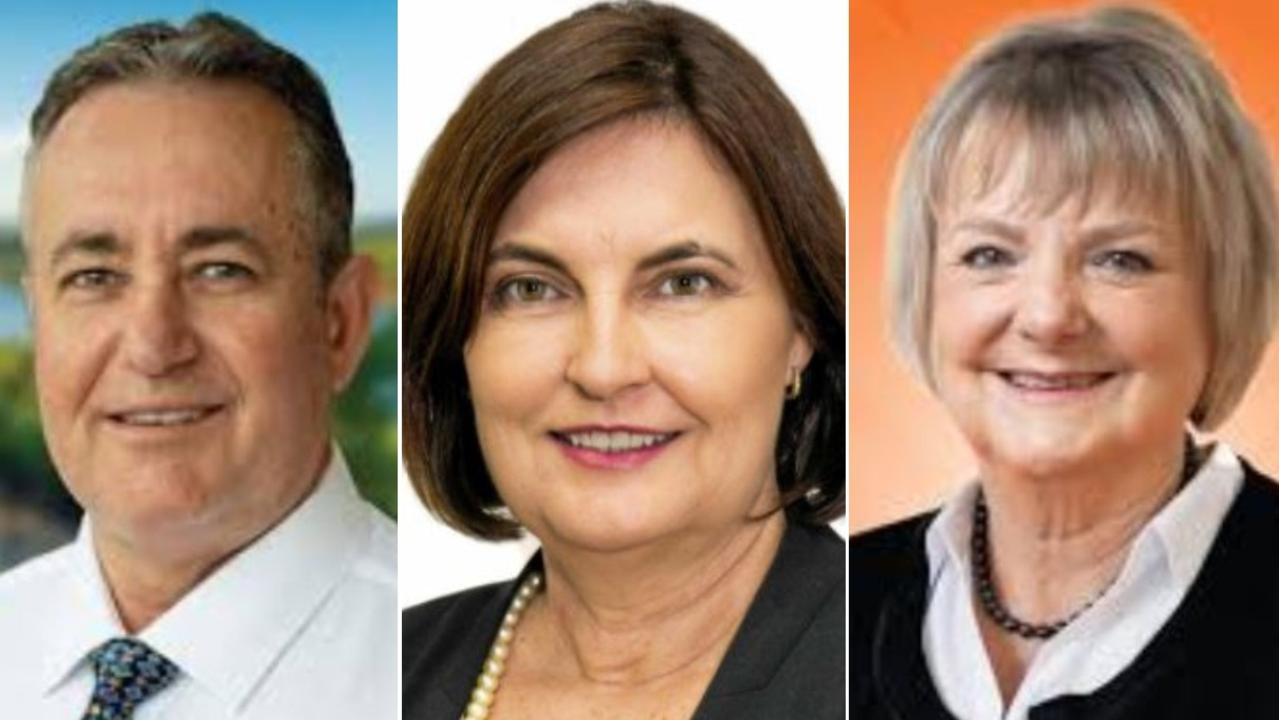 Mackay state election candidates: Chris Bonanno (LNP), Mackay MP Julieanne Gilbert (ALP) and One Nation's Christine Keys.
