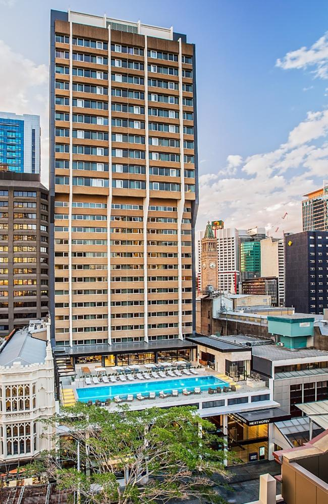 The Next Hotel Brisbane, where hotel quarantine was held. Picture: supplied