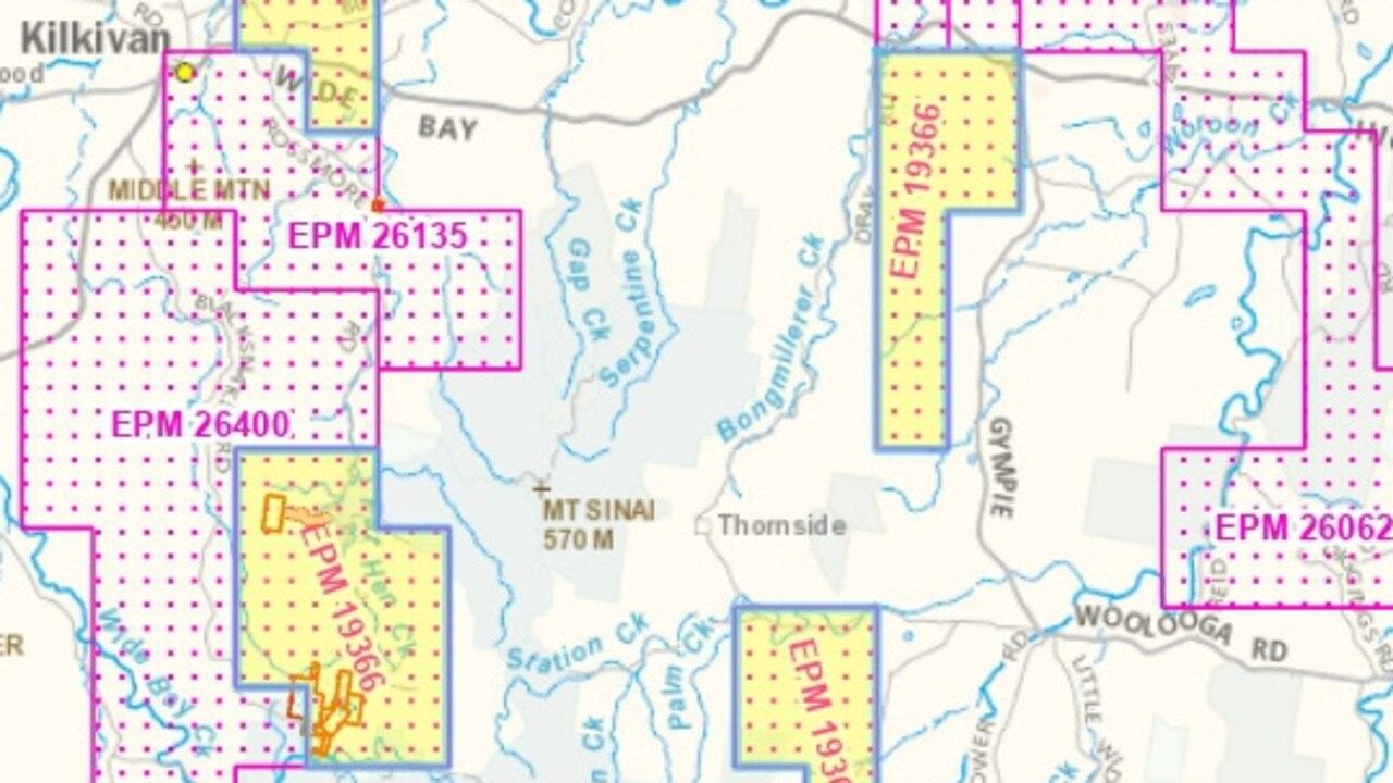 Aus Tin Mining's permit is split across four blocks.