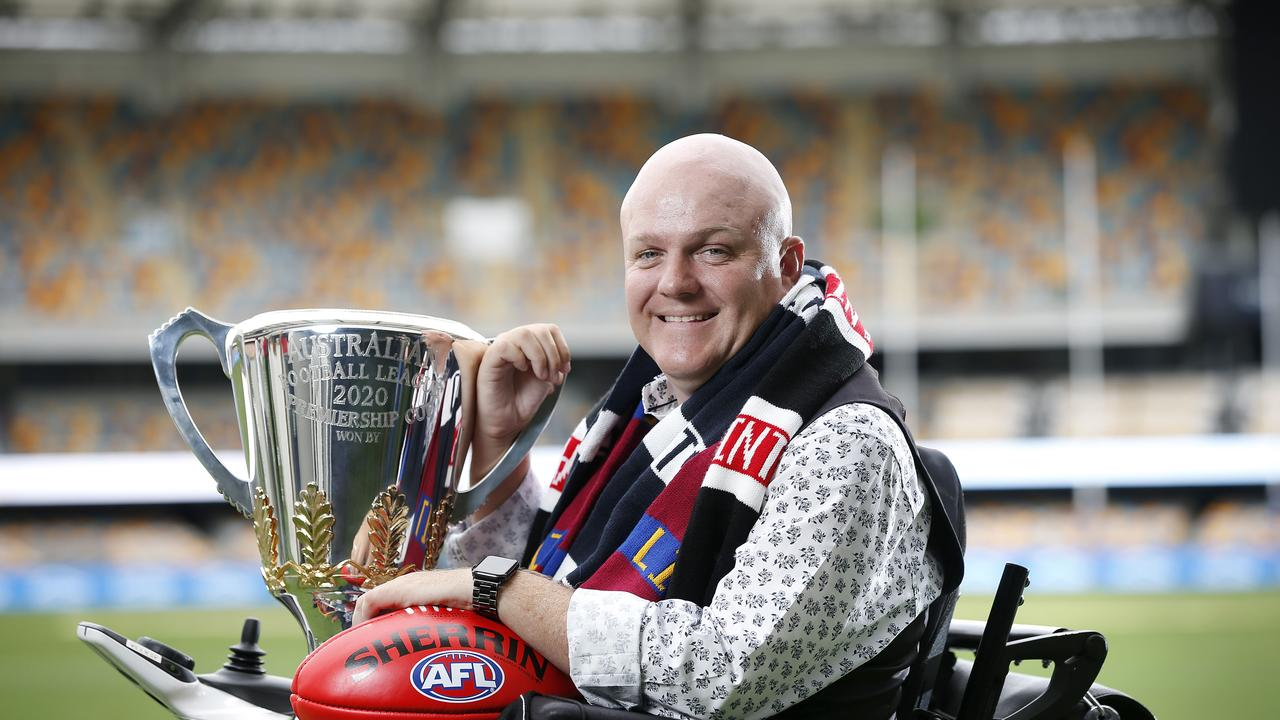 Tim McCallum pictured at the Gabba, Brisbane 10th of September 2020. Tim will sing the national anthem at this year's AFL Grand Final. (Image/Josh Woning)