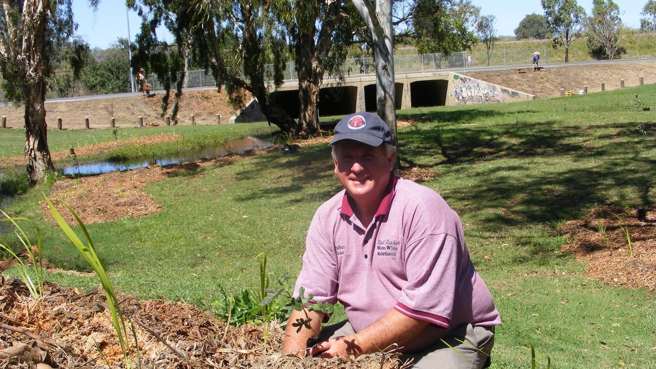 MULCHING EXPERT: Neil Fisher mulching a new garden.