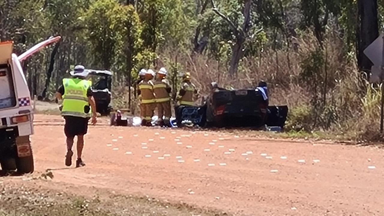 Police are on the scene of a fatal crash on a dirt section of Fassio Rd west of Mareeba. Picture: Andrea Falvo