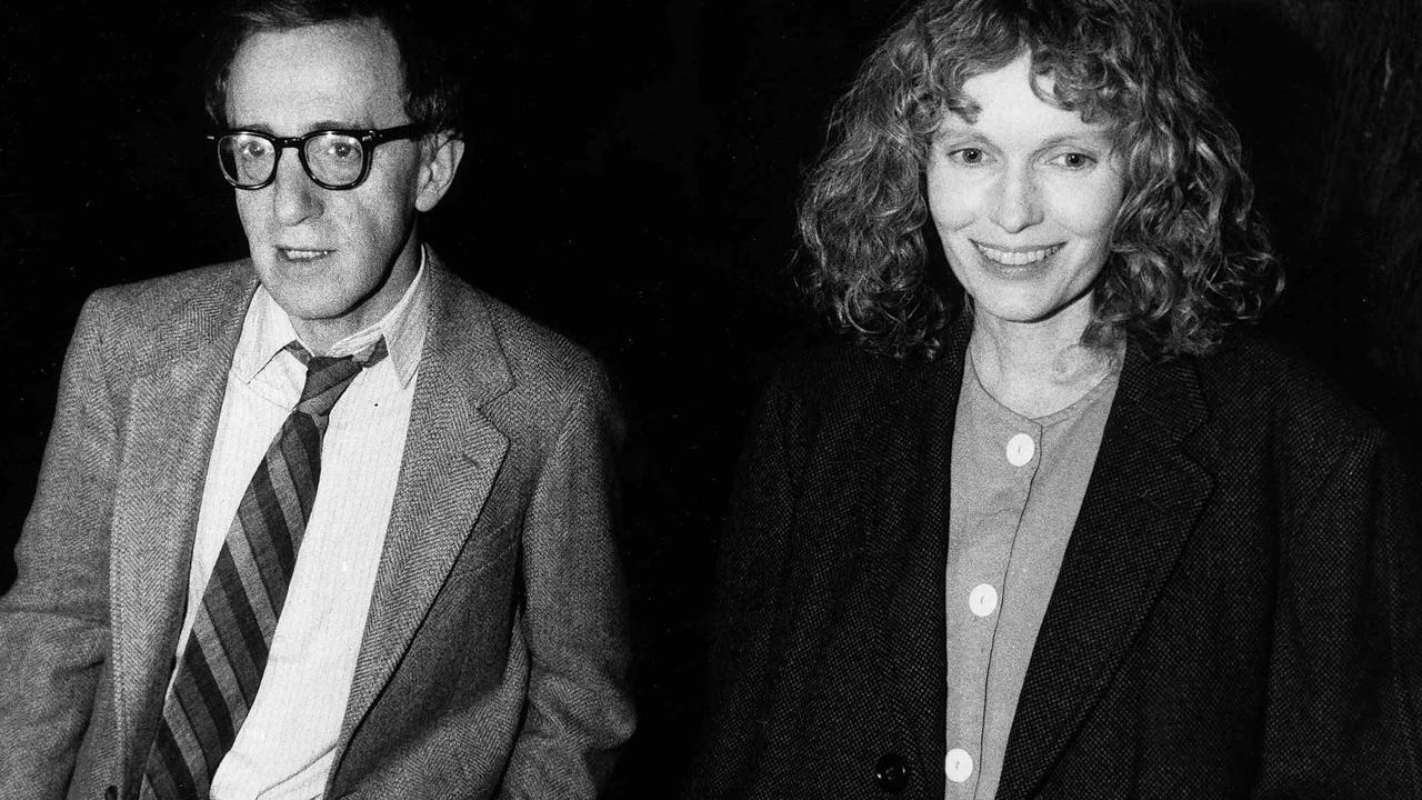 Woody Allen and Mia Farrow in 1986. Picture: Getty Images.