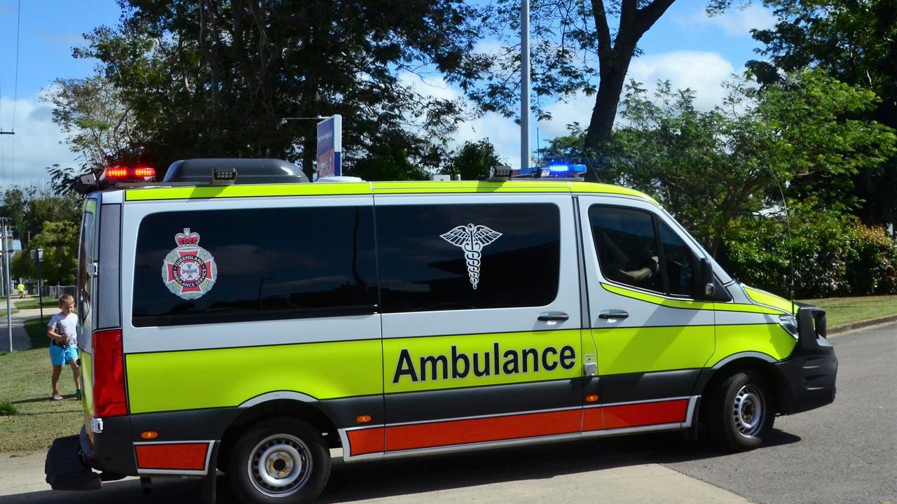 A Queensland Ambulance Service vehicle.