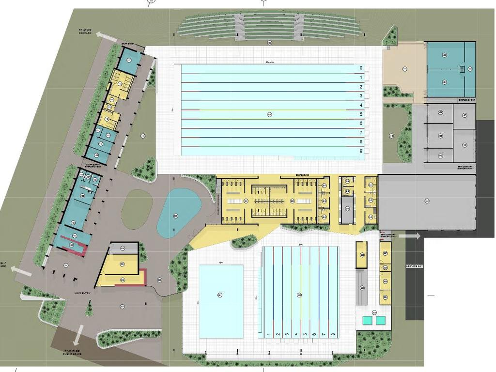 MAKING A SPLASH: Concept plans for the proposed Bundaberg Regional Aquatic Centre revealed.