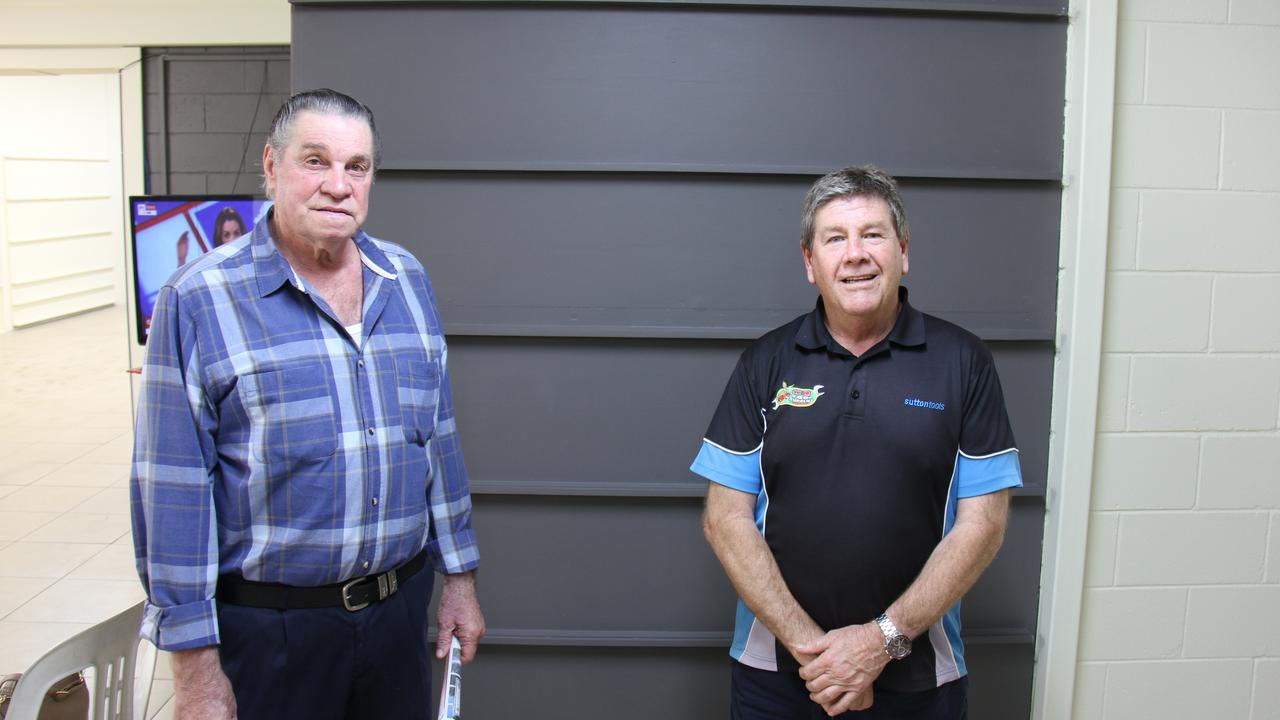 Kevin Benn and LNP candidate Ron Harding at his meet the candidate night.