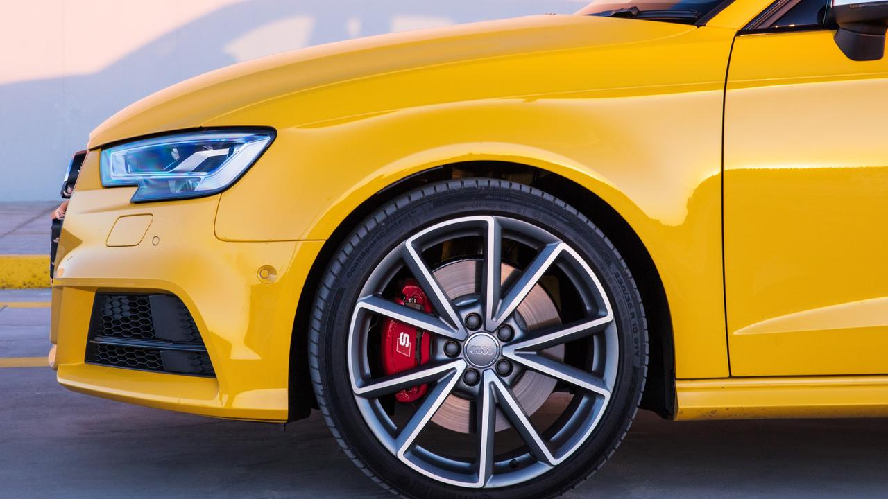 Big brakes offer the Audi S3 Sportback ample stopping power.
