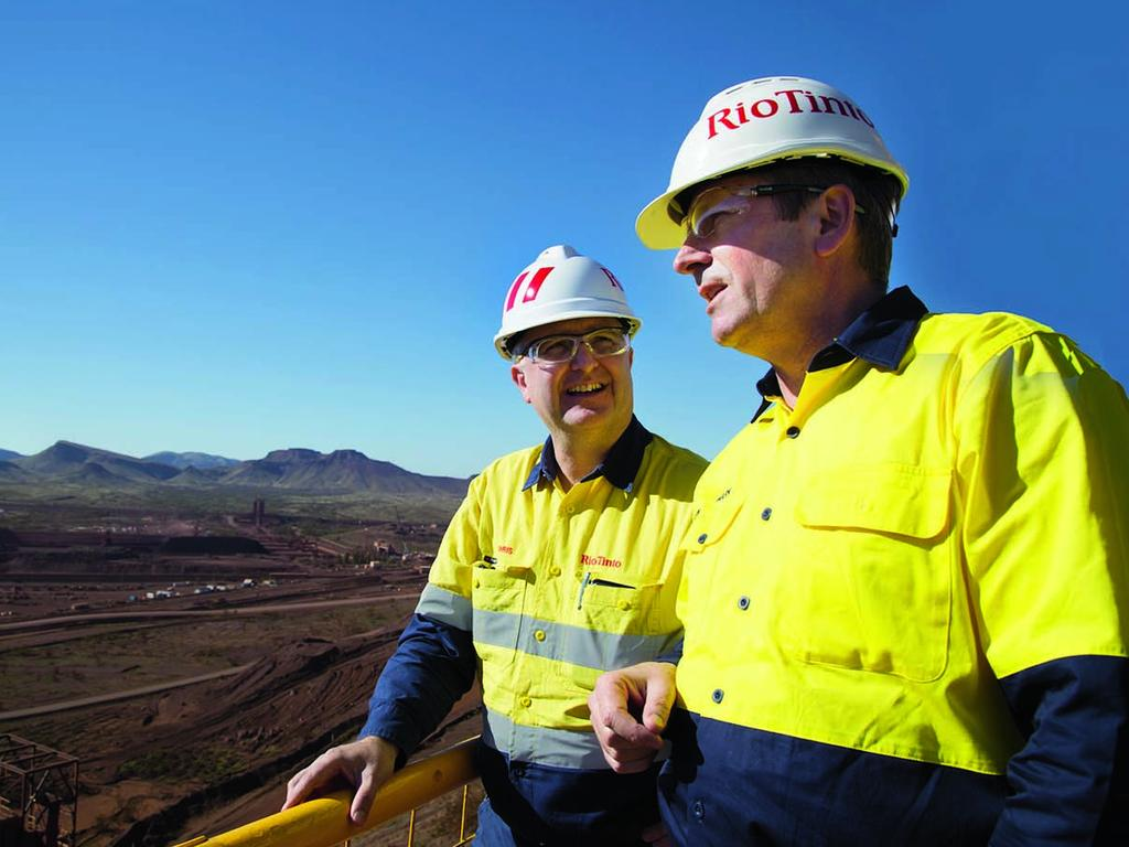 Rio Tinto iron ore boss Chris Salisbury, pictured with WA Premier Mark McGowan, will also leave the company.