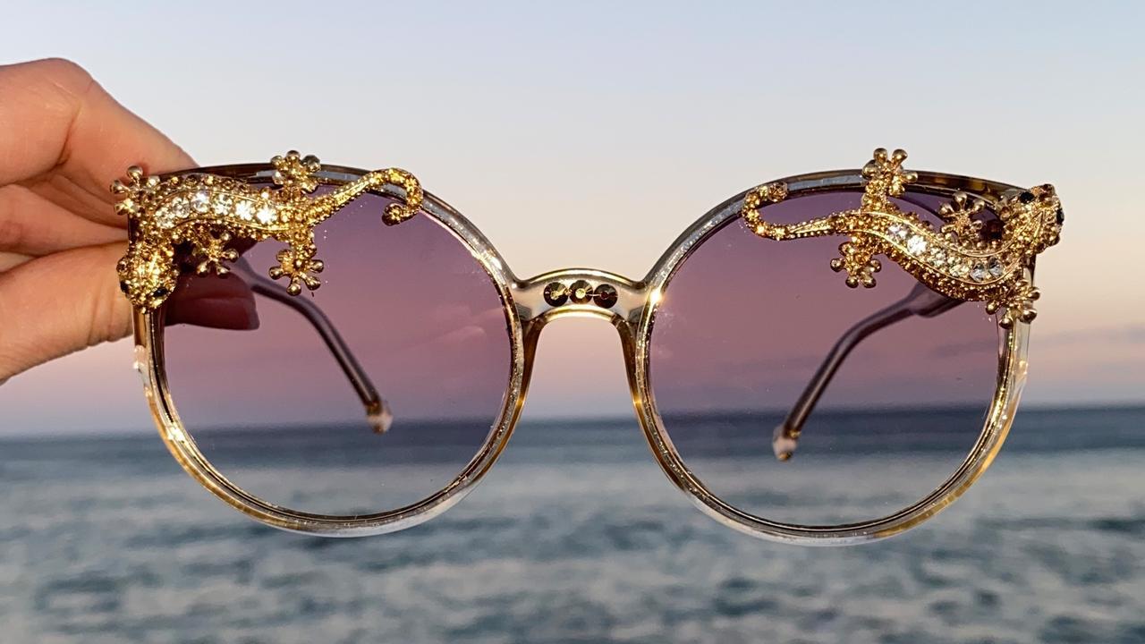 The Golden Lizard shades from Maude Studio.