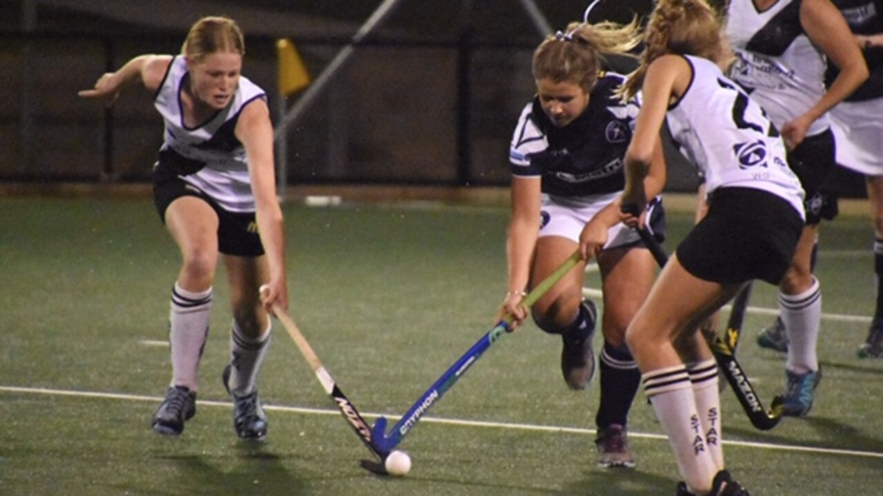 FAST AND FURIOUS: In 2019 in the Far North Coast A-grade women's hockey minor semi-final Northern Star and Coraki battles it out.