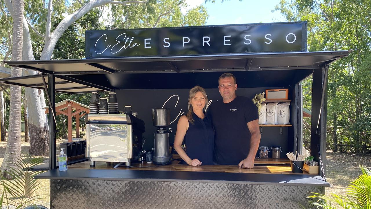 Mount Jukes residents Zoe Cooper and Shane Gaudard will open a sunrise coffee trailer on Saturday, September 12, to provide much-needed caffeine to visitors meeting the wallabies at Cape Hillsborough.