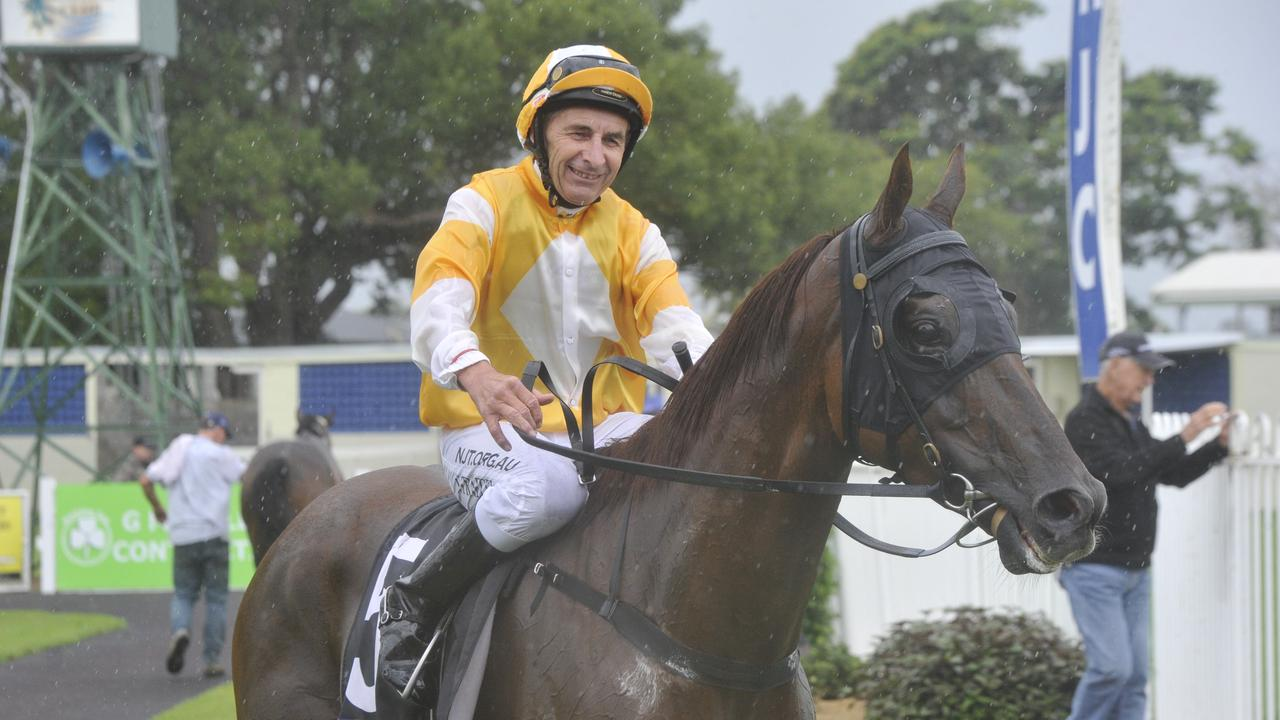 New Zealand jockey Stephen Traecey steered Andrew Parramore trained gelding Steppin' Up to a win in the race 1 Chinese New Year Benchmark 58 Handicap 2200m during a race meet at the Clarence River Jockey Club on Thursday, February 6, 2020.