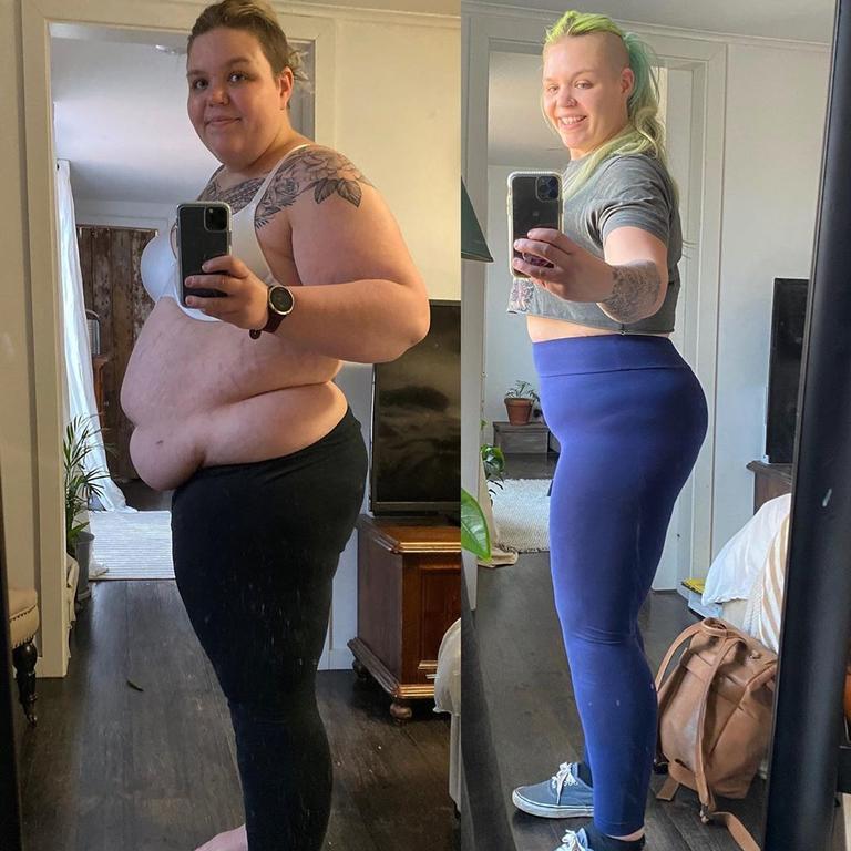 Krechelle began her weight loss journey in November last year.