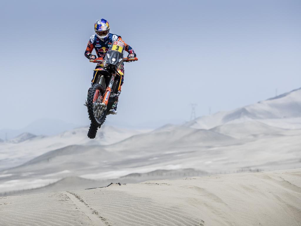 Toby Price during the Dakar Rally. Picture: Supplied
