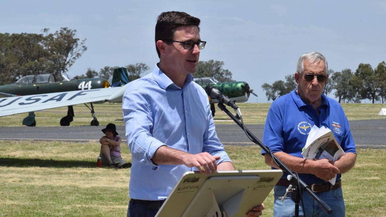 MONEY FOR ROADS: Member for Maranoa David Littleproud at the Warwick and District War Memorial Aerodrome. Picture: File