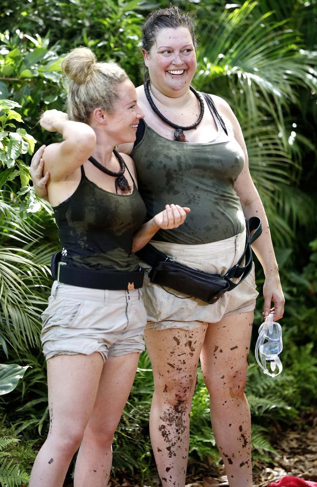 Jungle pals … Pollard made friends with Tziporah Malkah during her stint on 10's I'm A Celebrity Get Me Out Of Here. Picture: Nigel Wright/10.