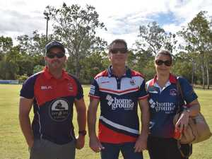 Ben Hough, Shane Marjoram and Stacey Marjoram at the
