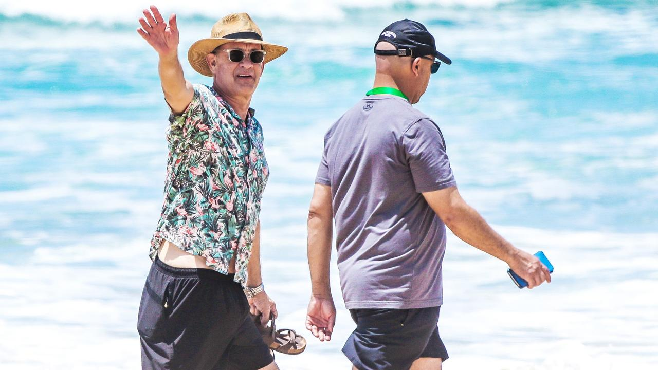 Tom Hanks is filming a movie on the Gold Coast. Picture: Nigel Hallett