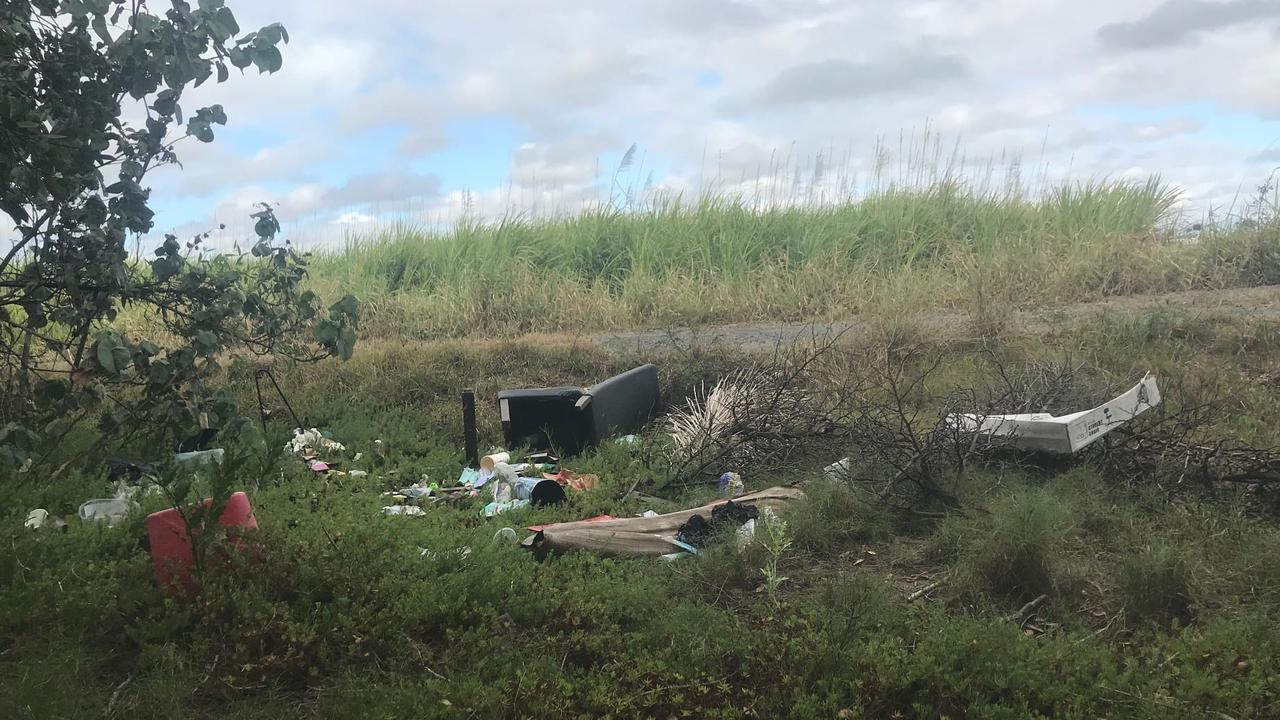 Councillor Laurence Bonaventura and a group of volunteers targeted a known hotspot for illegal dumping at Cremorne.