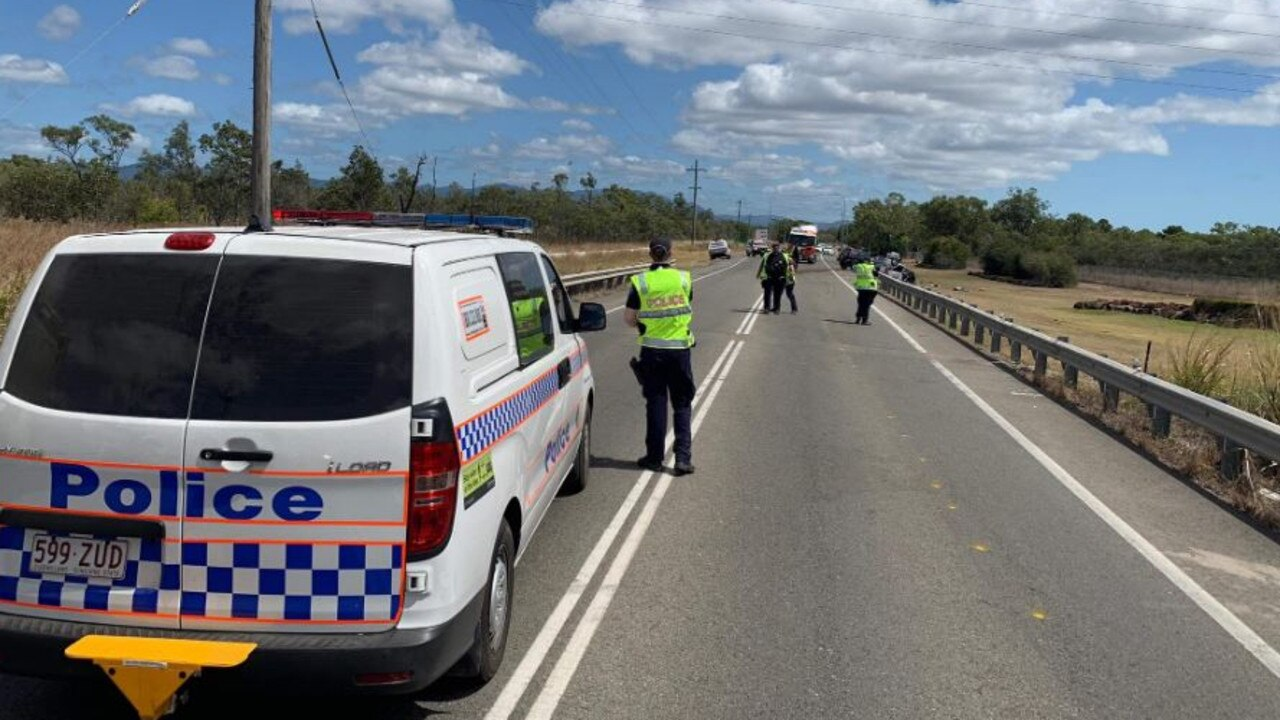 The scene of the fatal crash at Yabulu. Picture: 7 News Townsville/Twitter
