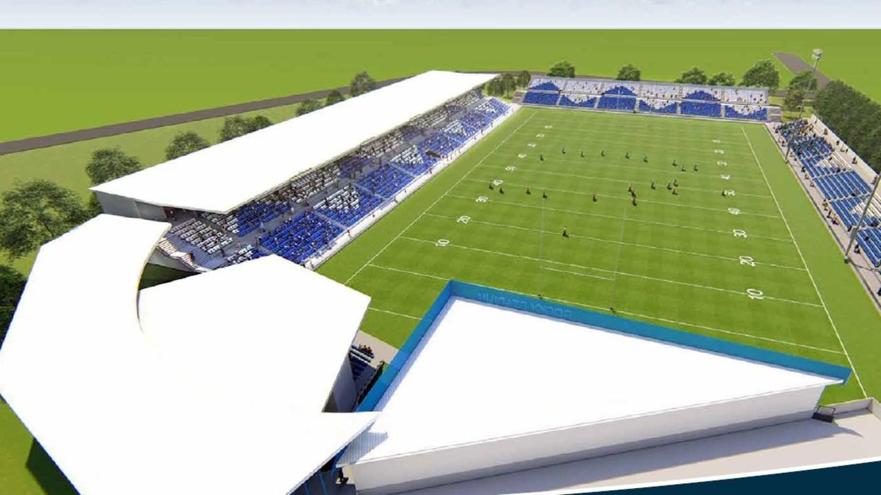 CONCEPT IMAGES: This is an artist's impression of the proposed Rocky Stadium at Victoria Park, which has just secured a $23 million funding commitment from the Federal Government.