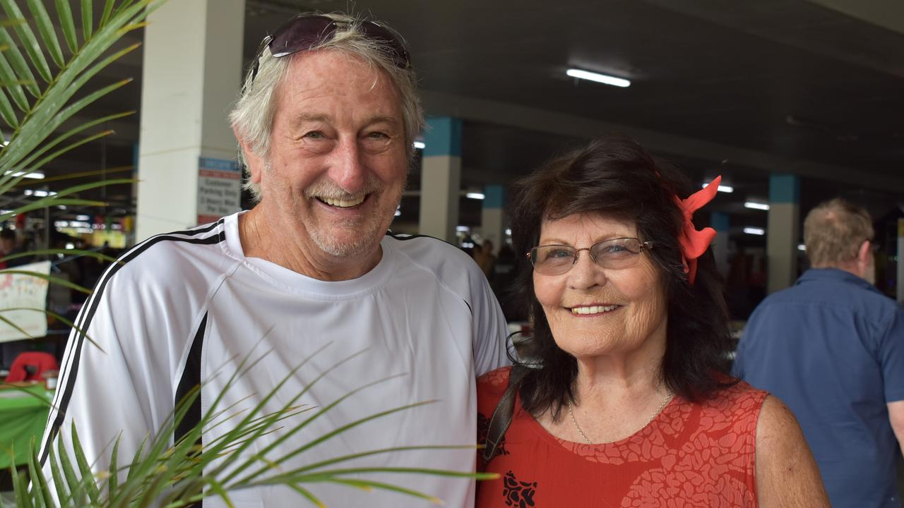 Terry White-Primrose and Maggie White-Primrose recently moved back to Mackay from Caloundra and were at the Troppo Markets at Mt Pleasant. Picture: Tara Miko
