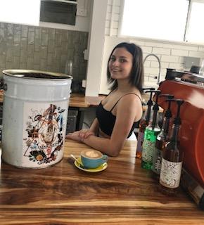 Gracie Whitton is ready to take your coffee order.