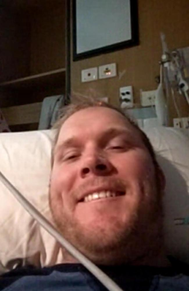 Logan man John Hitchens, was paralysed two weeks ago, but has been alone in Princess Alexandra Hospital because COVID rules bar visitors.