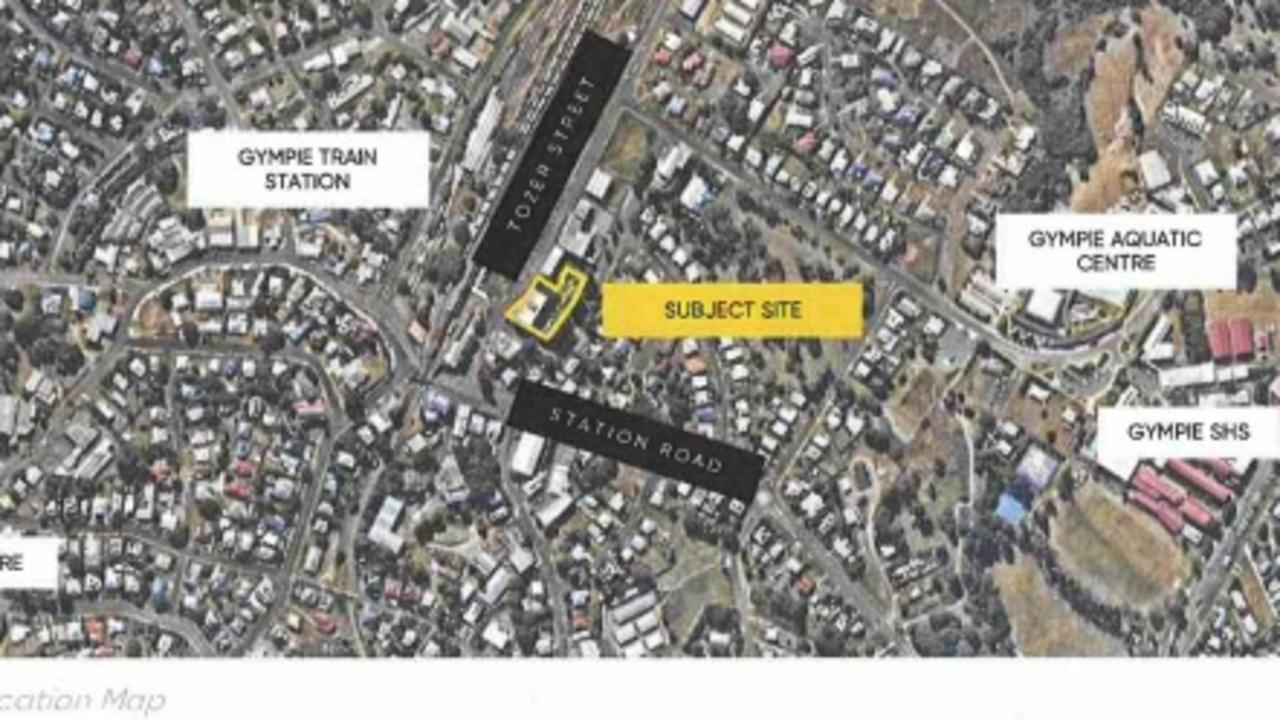 Map of proposed new home for Gympie Real Body Movement Gym.