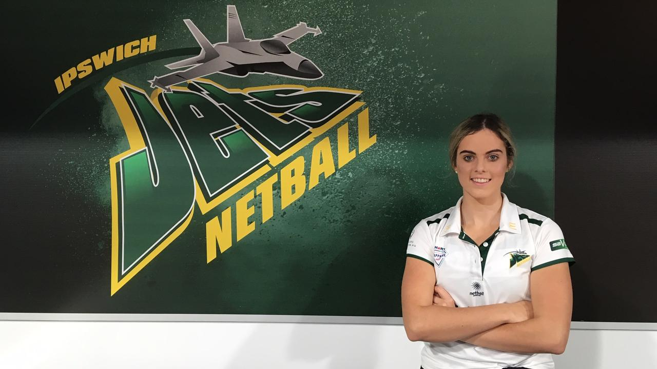 Ipswich Jets vice-captain Brooke Hams embraces the professional standards being set this season in the Netball Queensland Sapphire series.