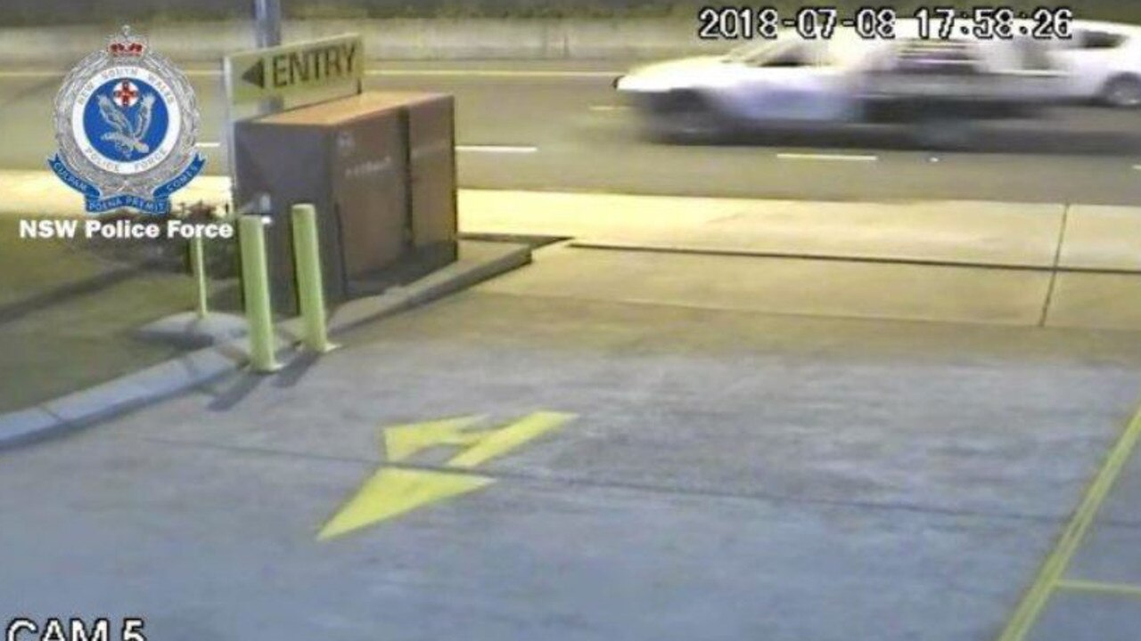 A CCTV image of a white ute involved in an alleged hit and run last in Tweed Heads South in 2018.
