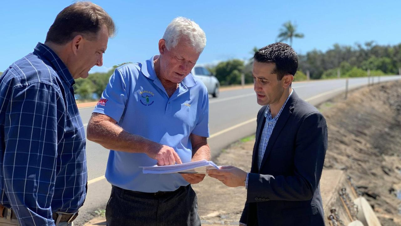 TIME FOR ACTION: Member for Burnett Stephen Bennett, Bargara Glf Club's Don Smith and shadow minister for Environment, Science, the Great Barrier Reef and Tourism David Crisafulli.