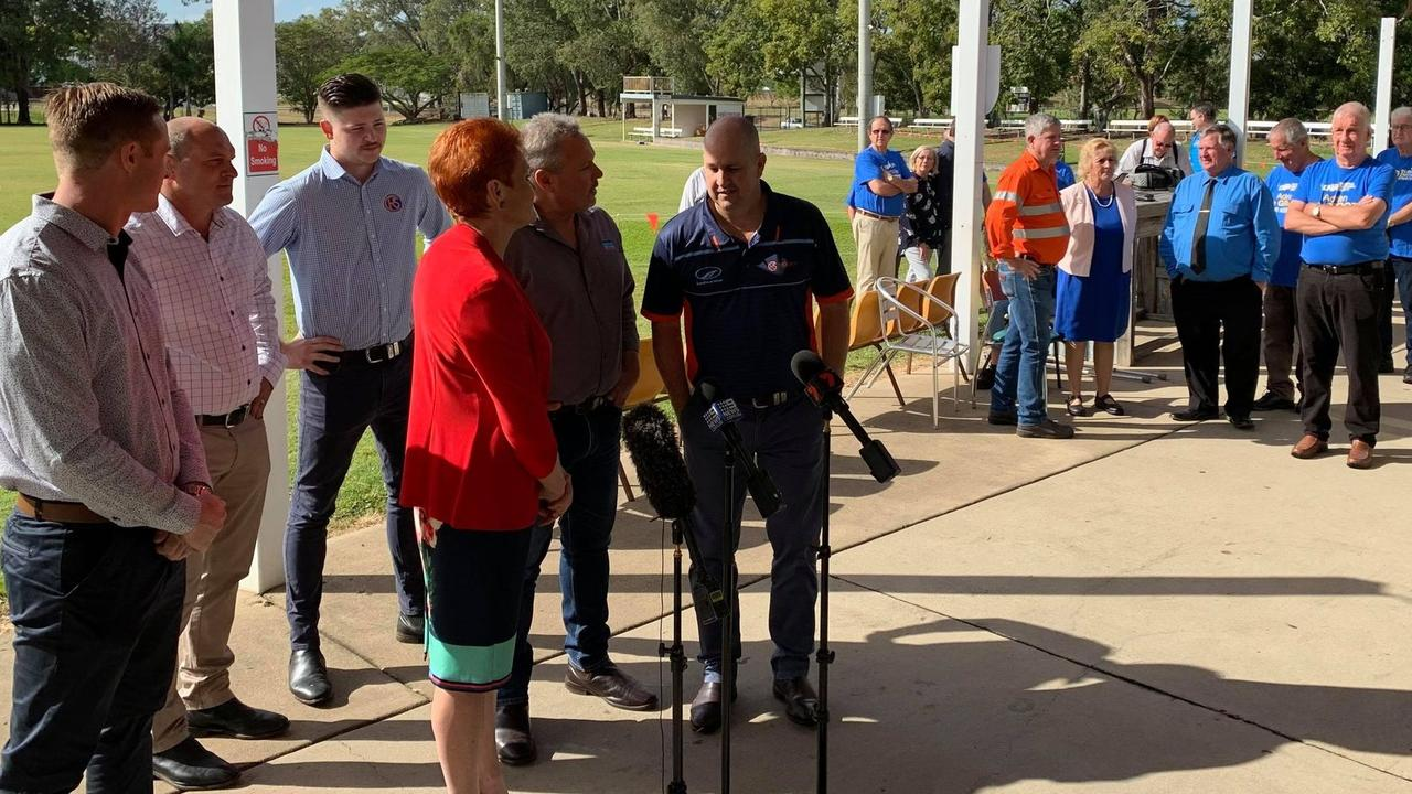 AWKWARD SITUATION: With both One Nation and the LNP claiming credit for securing the funding for the Rocky Stadium, it was interesting to see whether they would have a combined press conference or separate ones – in the end it was the latter.