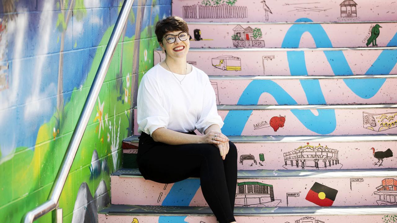 Greens candidate for South Brisbane Amy MacMahon. (NIGEL HALLETT)
