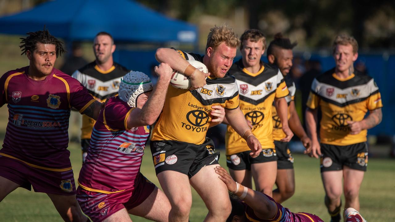 Gatton Hawks v West End in round 7 of the Ipswich Rugby League Vounteers Cup. PHOTO: BRUCE CLAYTON