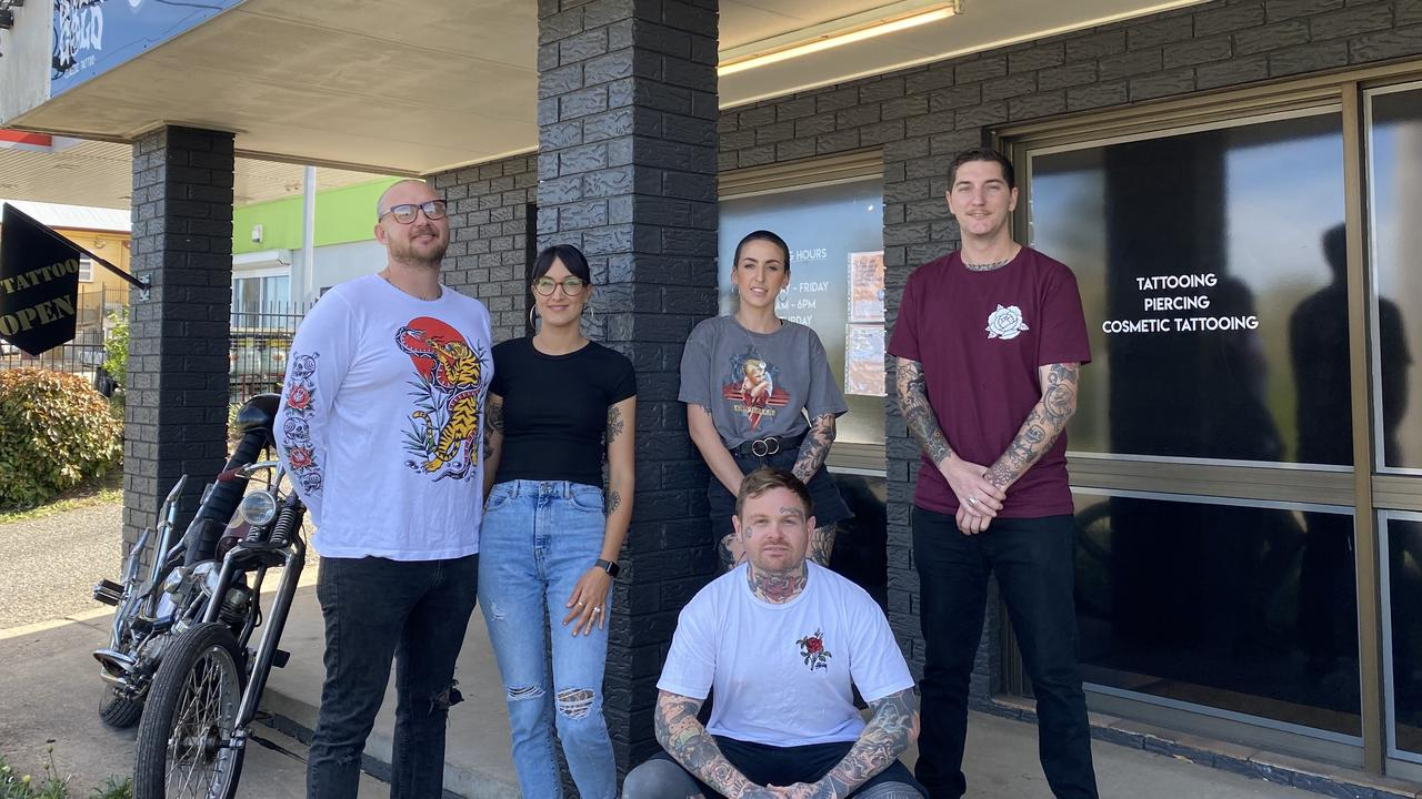 The team at Solid Gold Classic Tattoo in Gympie which has been busier than ever.