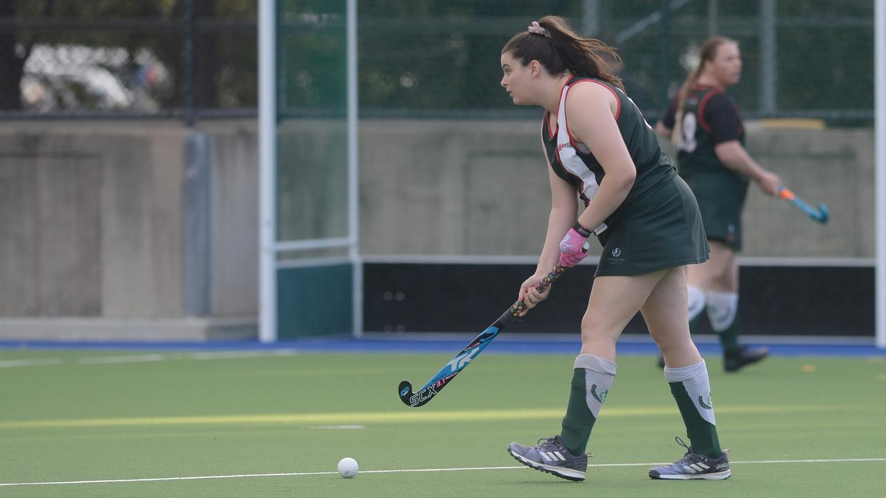Ebonee Moffat (pictured) and her three sisters Jessica, Amy and Courtney are playing together in Frenchville's Division 1 women's team. Photo: Hann Houley