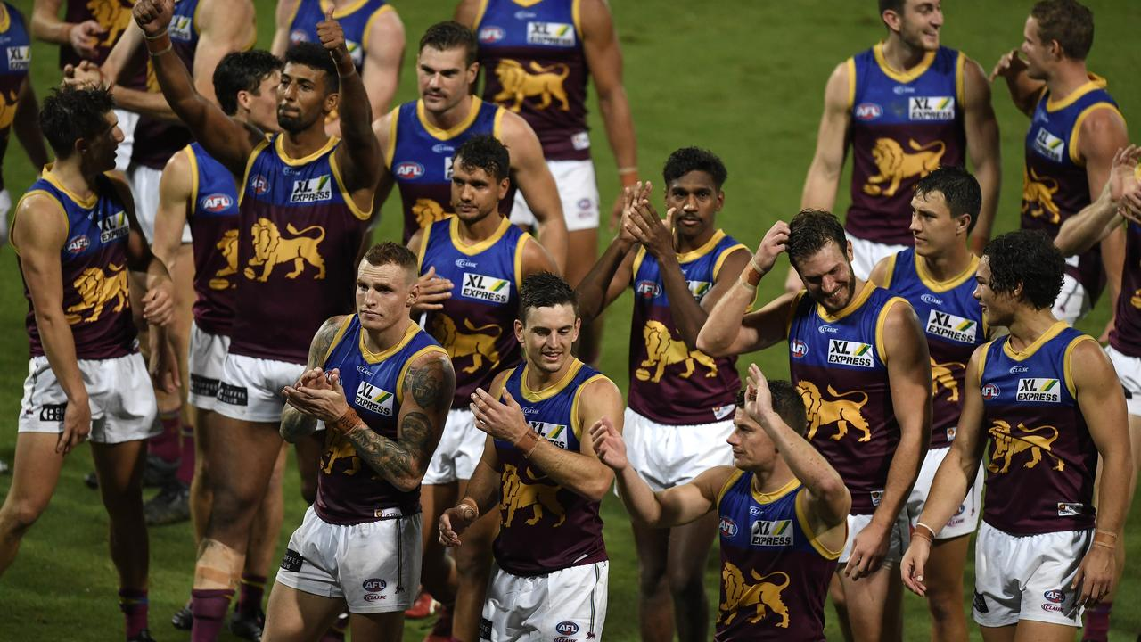 Brisbane will host the AFL Grand Final in 2020, with the Lions a real chance of making it. Picture: Getty Images.