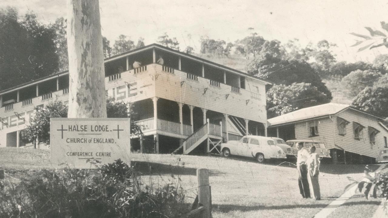 Noosa's Heritage-listed Halse Lodge, circa 1961.