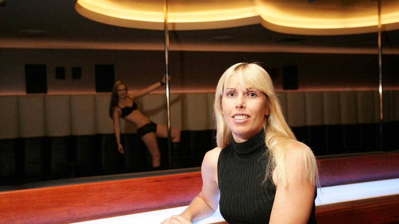 Heather McMurray at the renamed Elektric Blue Girls strip club in 2004. Photo-Anthony Reginato