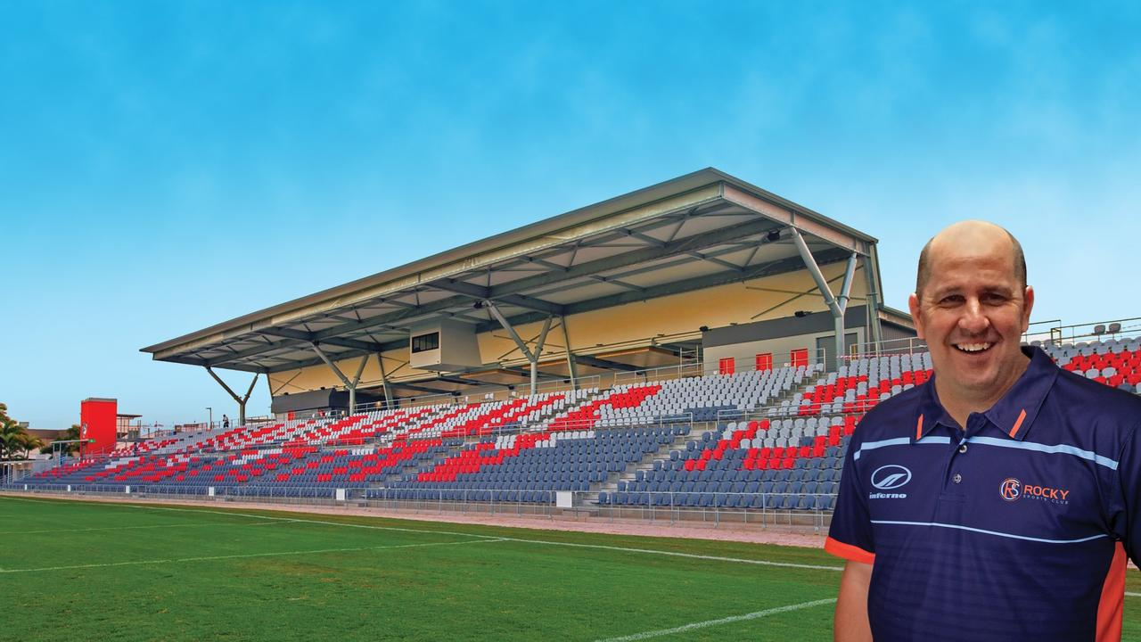 STADIUM ALTERNATIVE: Rocky Sports Club's Gavin Shuker inspected the Redcliffe Stadium and believes one similar could be built at Victoria Park, Rockhampton.