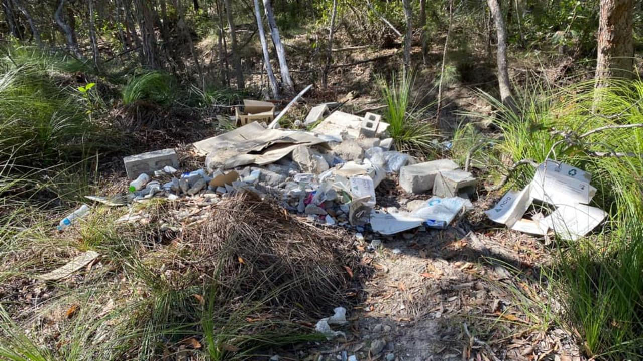 An Agnes Water couple was disgusted after finding huge piles of rubble dumped at an Agnes Water creek last weekend.