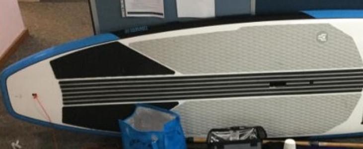 The paddle board was found at Urangan.