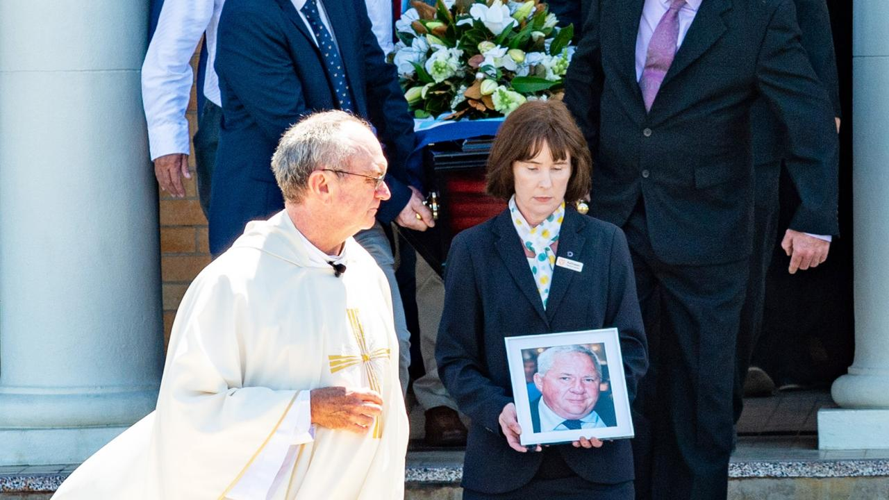 At Tim Mulherin's State funeral, St Patrick's Church Father Don White said the former Mackay MP's spirit did not fade, even in those final days. Photo: Daryl Wright