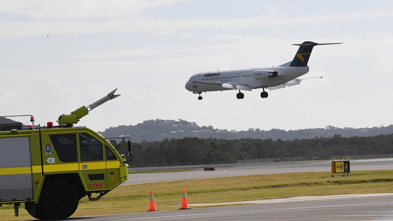 Sunshine Coast Airport's late night flights are a concern for locals.