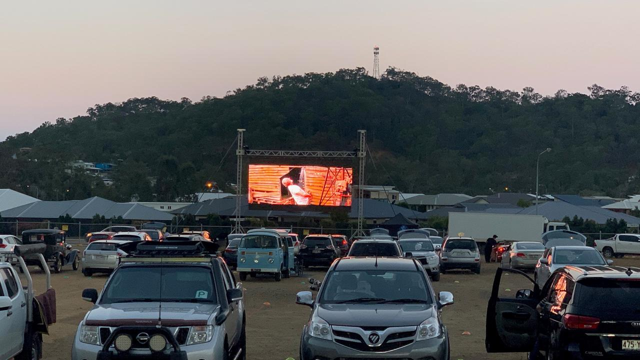 Friday night at the Kirkwood Drive-In on September 11, 2020.